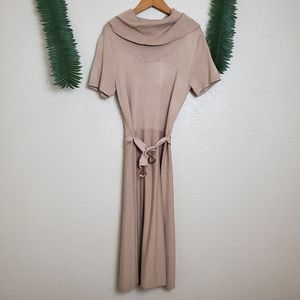 New York & Company cowl neck belted dress